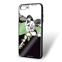majocco iPhone8 Plus ケース ガラスプリント TPU 野うさぎちゃんC (mj-008) スマホケース カバー WN-LC847655