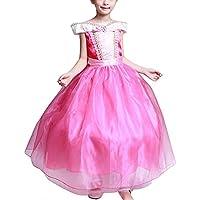 GETS(ゲッツ) オーロラ姫 風 ドレス 眠れる森の美女 プリンセス しっかり3層構造 ふんわり 子供用 ロングドレス 子供プリンセスドレス キッズ コスプレ 女の子 ちいさなプリンセス