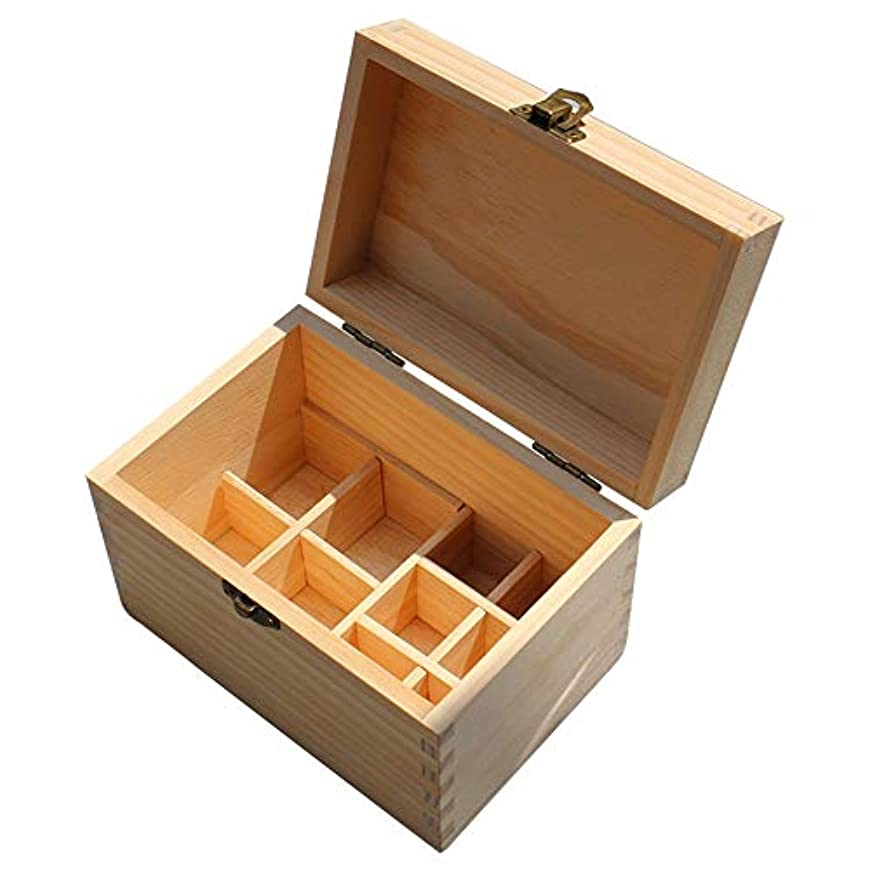 マングル勧告処方する精油ケース 10スロット木製のエッセンシャルオイルウッドボックスオーガナイザーパーフェクトエッセンシャルオイルケース 携帯便利 (色 : Natural, サイズ : 16.2X10.8X11CM)