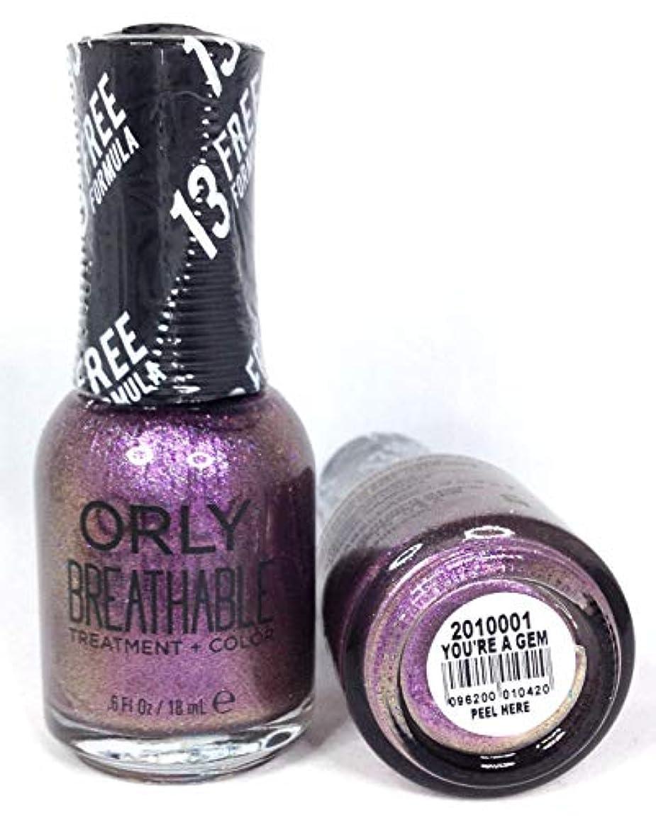 感度掃く浸したORLY Breathable Lacquer - Treatment+Color - You're A Gem - 18 mL / 0.6 oz