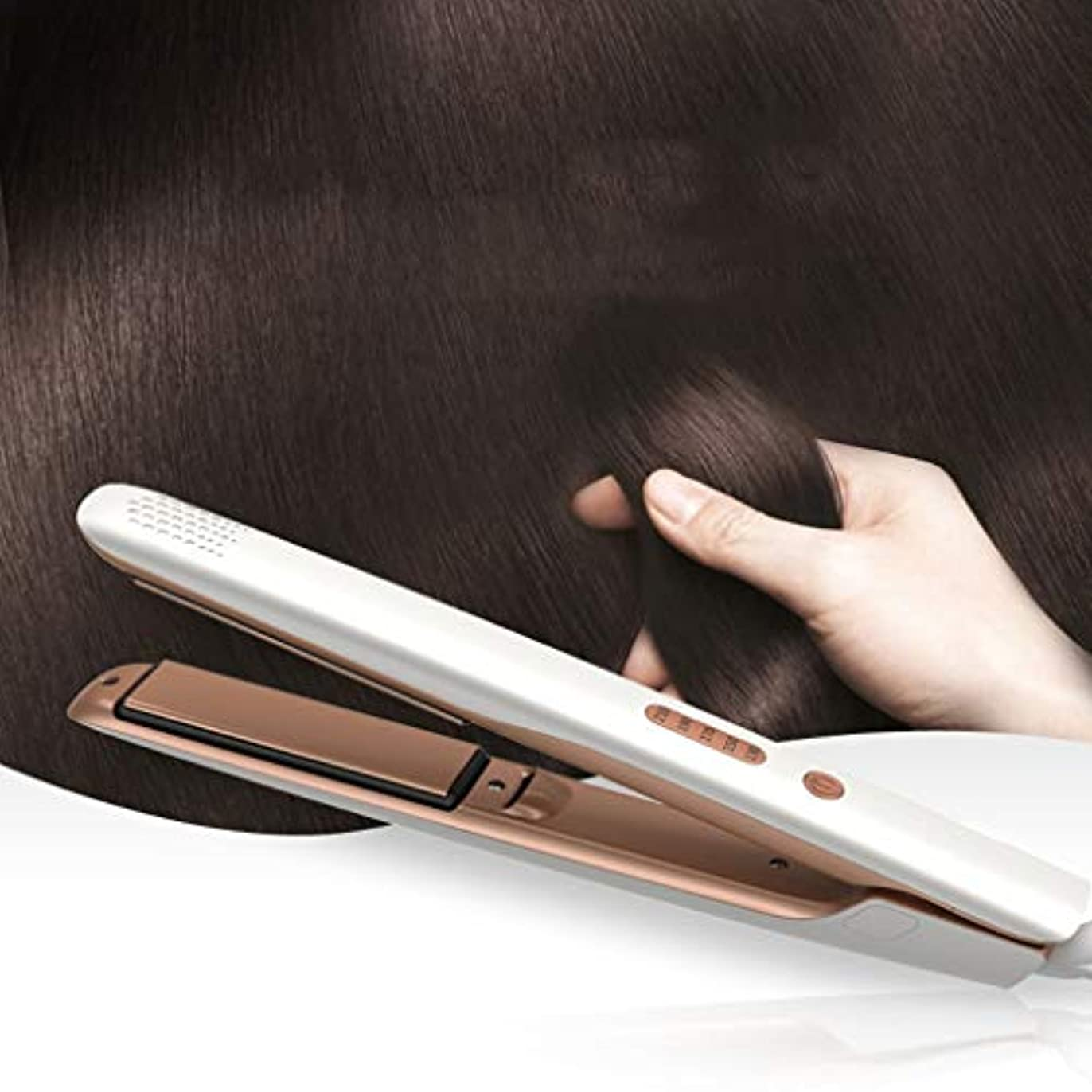 。騒ぎ取るに足らないJWWOZ 5速温度制御セラミックストレートヘアアイロンマイナスイオン修理髪質高速ヘアスタイリングデバイス ストレートヘアアイロン