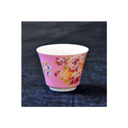 茶杯 花布柄 ピンク