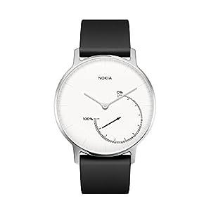 Withings / Nokia スマートウォッチ Steel アクティビティ&睡眠監視 ブラック&ホワイト 【日本正規代理店品】
