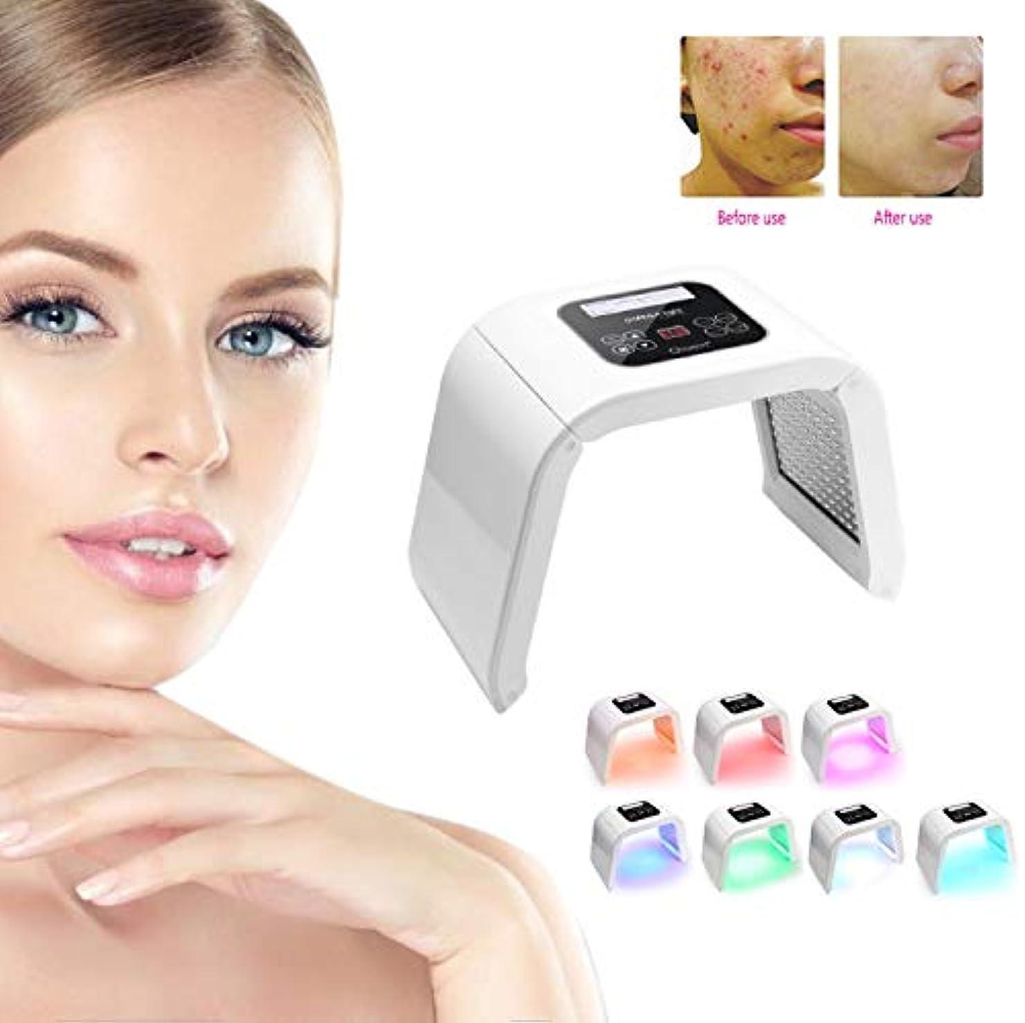 中絶瞑想元の光線力学的顔の皮の若返り機械、PDT 4色LEDライト美ランプのアクネの処置のスキンケア機械顔機械(US), 7色PDT LEDライト美容光線力学ランプにきび治療肌の若返りマシン米国