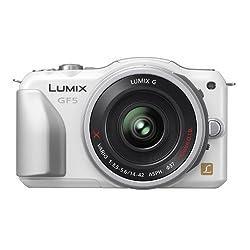Panasonic ルミックス デジタル一眼カメラ/レンズキット(14-42mm/F3.5-5.6電動ズームレンズ付属) フルハイビジョンムービー一眼 シェルホワイト DMC-GF5X-W