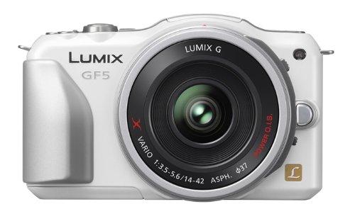 パナソニック ミラーレス一眼カメラ ルミックス GF5 レンズキット 電動ズームレンズ付属 シェルホワイト DMC-GF5X-W