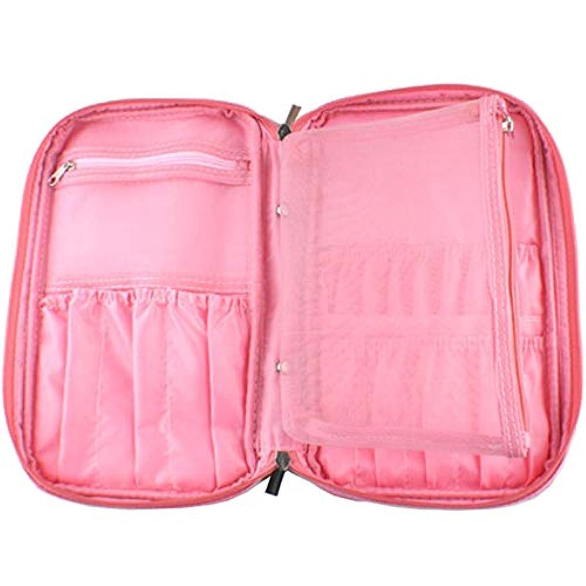 引き受ける激しい事実上Butokal 化粧ポーチ メイクブラシ収納ポーチ トラベルポーチ 化粧用バッグ 機能的 大容量 旅行収納ケース ポータブル 化粧バッグ (ピンク)