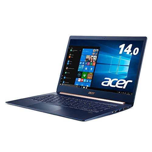 Acerノートパソコン Swift5 軽さ970g 薄さ14.9mm 14.0型FHD IPSタッチパネル Core i5 8GB 512G SSD Windows 10  Office H&B 2019  SF514-53T-H58Y BF チャコールブルー