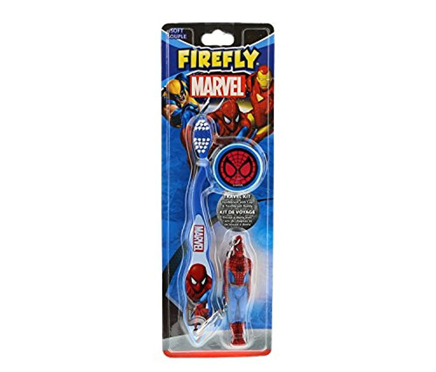 隔離ボア合体MARVEL HEROES フィギュア付き 歯ブラシ スパイダーマン