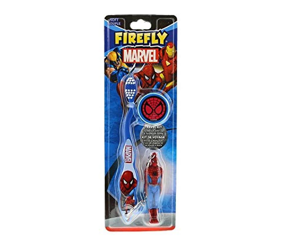 神話移動曇ったMARVEL HEROES フィギュア付き 歯ブラシ スパイダーマン