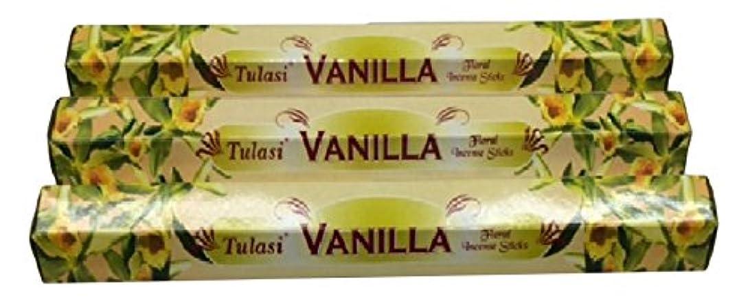免疫順応性のあるレトルトTULASI サラチ STICKS お香 60本入り VANILLA バニラ 640098-3