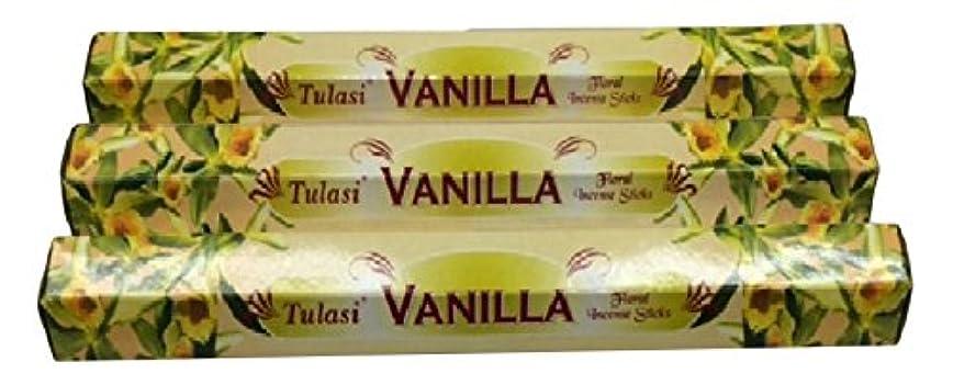 取り除くパニック貧しいTULASI サラチ STICKS お香 60本入り VANILLA バニラ 640098-3