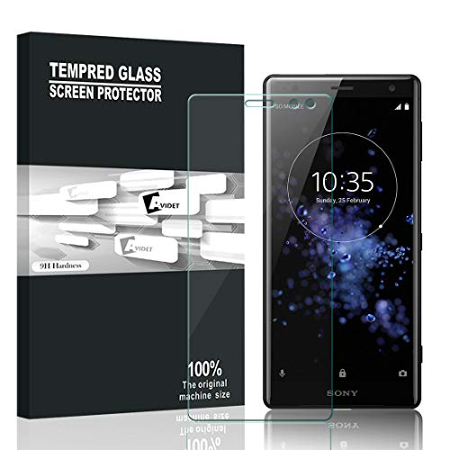 Xperia XZ3 フィルム A-VIDET【2枚セット】 アサヒ強化ガラス採用 液晶保護フィルム 9H硬度 ラウンドエッジ加工 ガラスフィルム Xperia XZ3 SOV39 au/Xperia XZ3 SoftBank 801SO / ドコモ Xperia XZ3 SO-01L スマートフォン対応