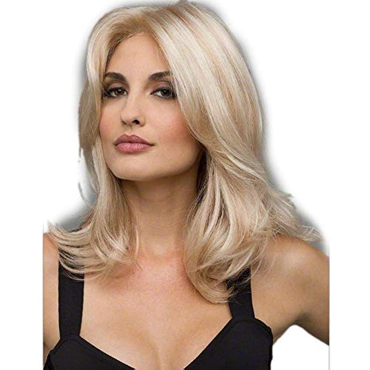 まさにさせる効果WASAIO ファッションオンブルブロンドかつら合成ロングストレートヘア (色 : Blonde)