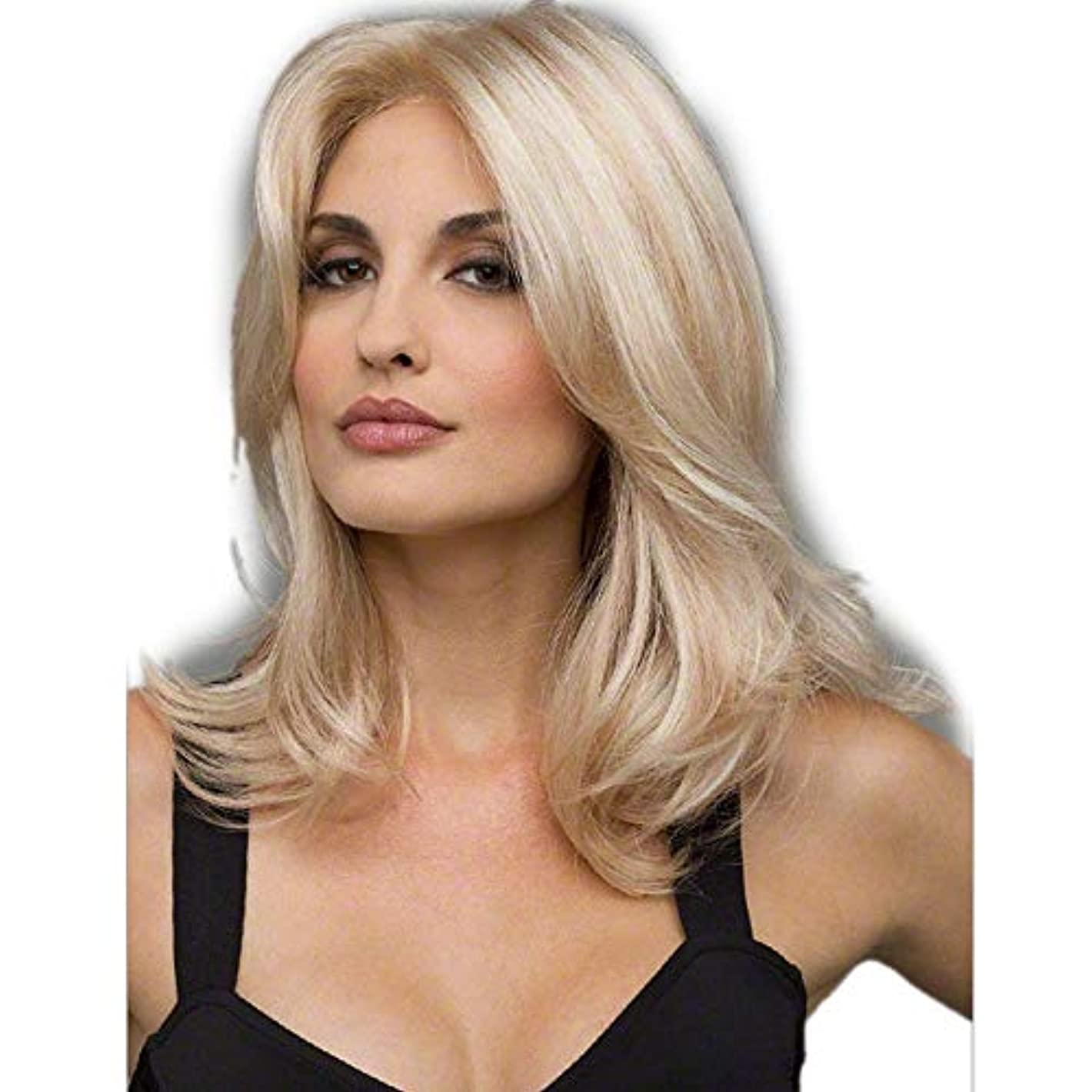 傾向がある郵便番号過ちWASAIO ファッションオンブルブロンドかつら合成ロングストレートヘア (色 : Blonde)