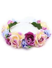 花かんむり 花冠 バラ 花かんむり 紫系 ヘッドドレス ハワイアン ウエディング ドレス花冠 fhkan067pecm