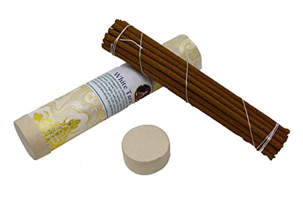改革シルクピグマリオンjuccini Tibetan Incense Sticks ~ Spiritual Healing Hand Rolled Incense Made from Organic Himalayan Herbs ホワイト