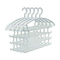 3ピースハンガー多機能家庭用シームレス乾燥ラックが広げられ、吊るすデザインPPグリーンプラスチックパンツラック大人用ハンガーワイドショルダー (色 : B, サイズ さいず : 42CM×38CM)