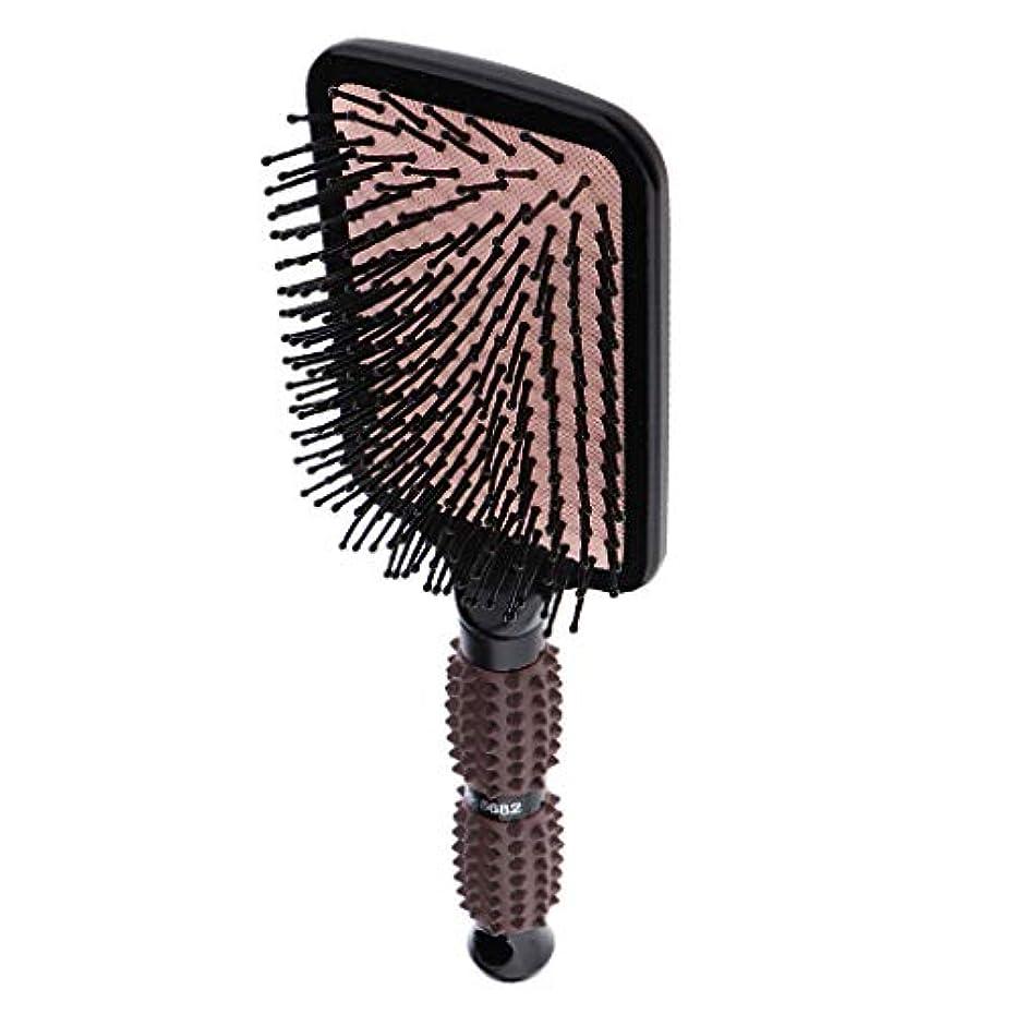 教育学興奮するまた明日ねPerfeclan ヘアブラシ 櫛 くし 頭皮/肩/顔マッサージコーム 美髪ケア 血行促進 薄毛改善 全2サイズ - スクエア