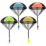 Parachute Toy, Tangle Free Throwing Toy Parachute, Outdoor Children's Flying Toys, No Battery nor Assembly Required (4 Pieces