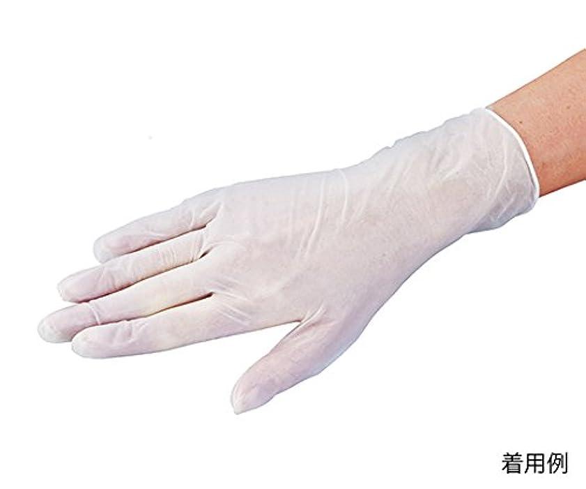 鷹過言同じナビス(アズワン)8-9569-01プロシェアプラスチック手袋パウダー無L1箱(100枚入)