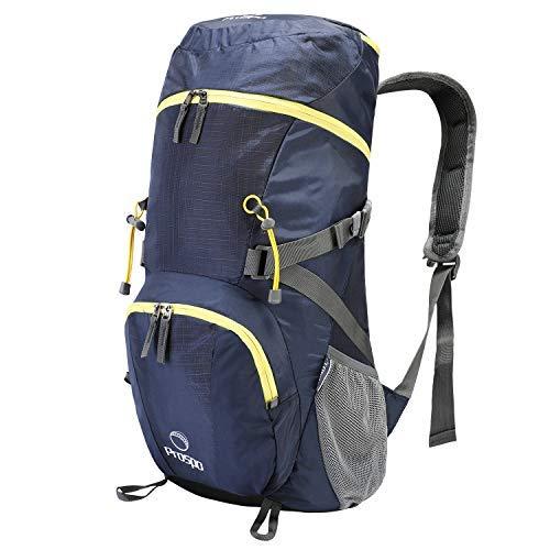 5079f0fc0cb3 Prospo 大型ショルダーパッカブルバックパック 旅行用デイパック 折りたたみ式軽量バッグ 40L+ バックパッキング ハイキング キャンプ  トレッキング用 Prospo 40L+ ...