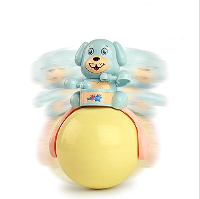 KEANER 新生児 乳児 ロールポリ おもちゃ 多機能 アニメ 犬 タンブラー 音楽 サウンド おもちゃ 教育玩具 (ランダムカラー)