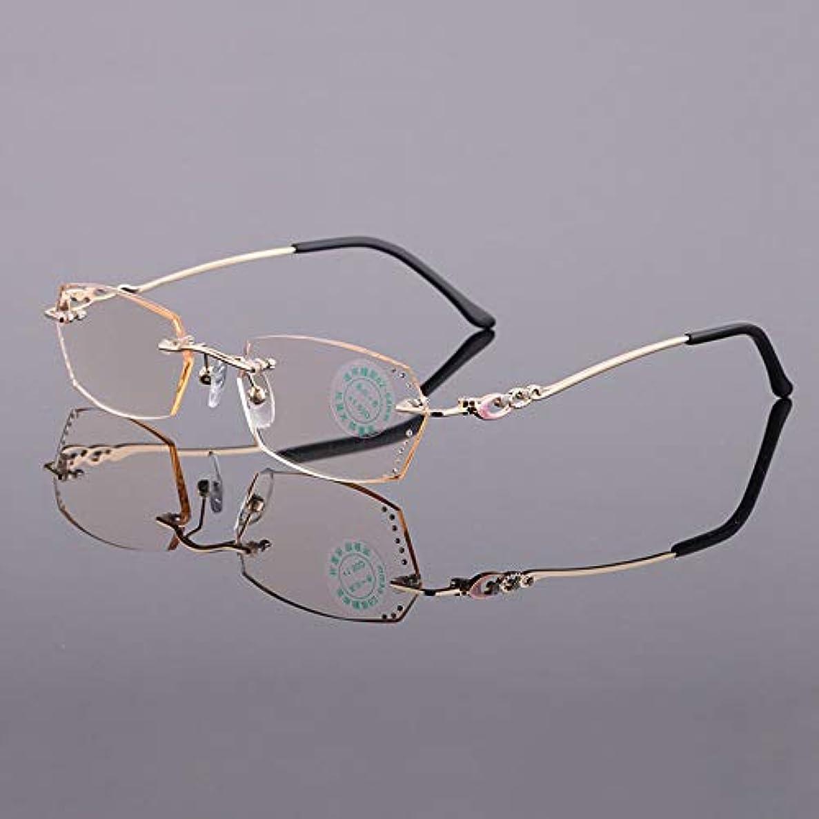 弁護士アナロジー人に関する限りさんフレームレス老眼鏡、抗疲労アンチブルー老眼鏡、ブラウンウルトラライトレジンレンズ、転倒防止耐擦傷性耐摩耗性老眼鏡、高齢老眼、ママとパパのホリデーギフトに最適