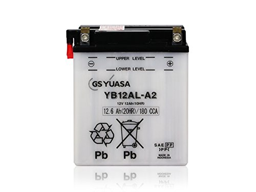 ジャパン GSユアサバッテリー YB12AL-A2(12Vバイク用)【開放式バッテリー】