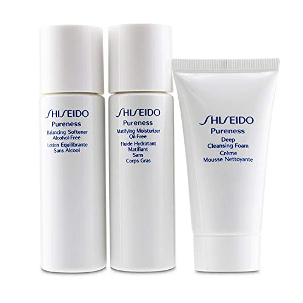 セッティングコンサルタント左資生堂 Pureness Simple Start For Oil-Control Set: Deep Cleansing Foam + Balancing Softener + Matifying Moisturizer...