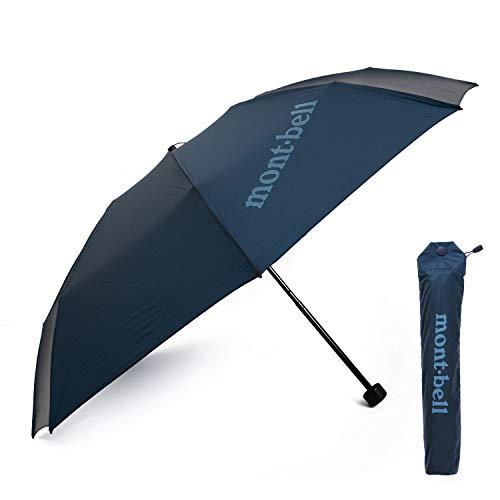 [モンベル] mont-bell 傘 6色 折りたたみ傘 エアライトナイロン トレッキングアンブレラ 10デニール 折り畳み傘 8本骨 アウトドア 雨傘 雨具 1128551 (01 ブルーブラック)