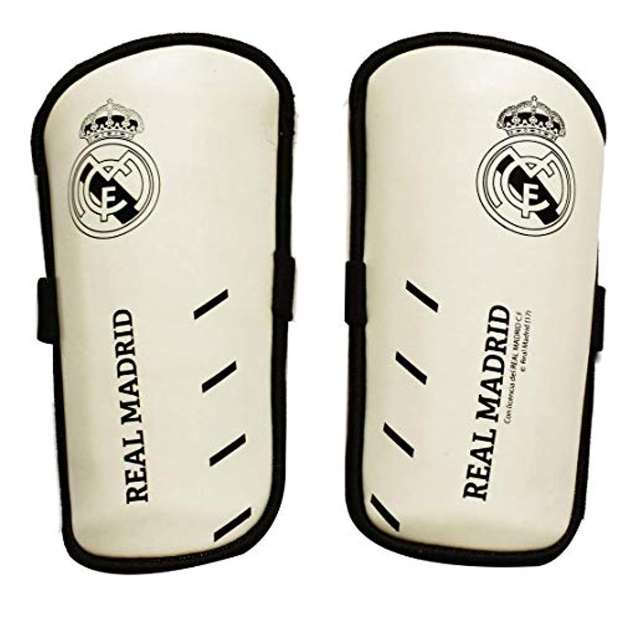 ボンド言い聞かせるビジュアルレアル?マドリード フットボールクラブ Real Madrid CF オフィシャル商品 キッズ?ジュニアサイズ サッカー パッド入り すね当て