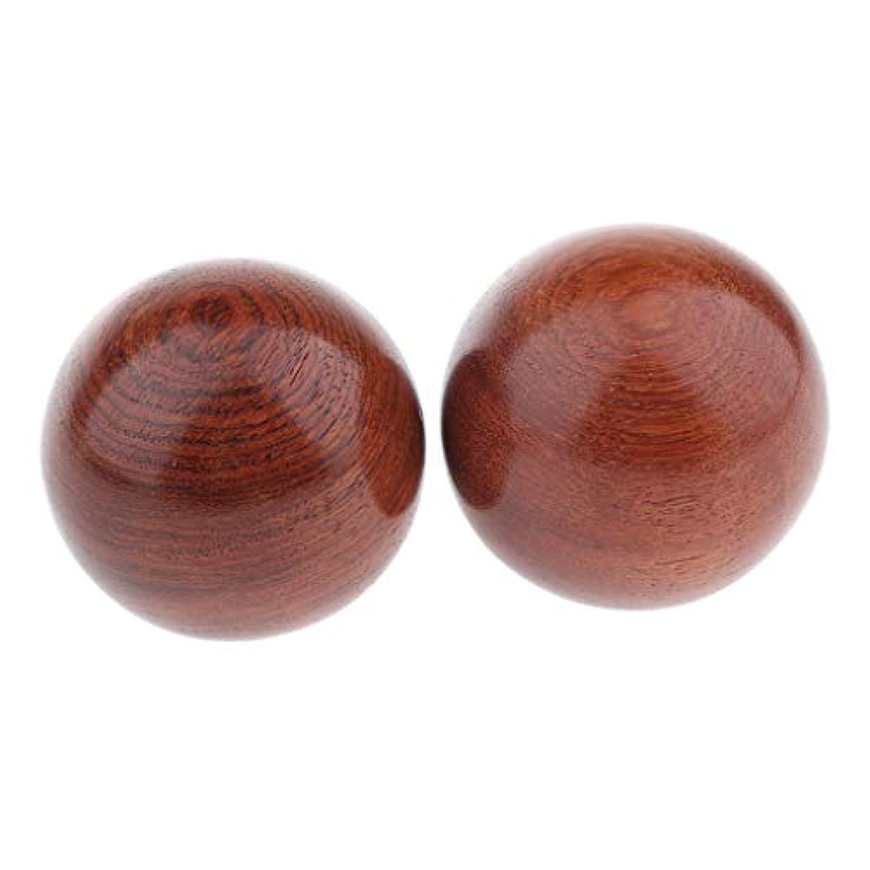 手綱気分引数Perfeclan 2個入 マッサージボール 木製 ハンドヘルド 木製ヒース ボール 3サイズ選べ - 説明のとおり, 6cm
