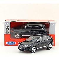 WELLY 1/36 スケール車のおもちゃアウディ Q7 SUV ダイキャスト金属プルバック車モデルグッズギフト?子供?コレクション