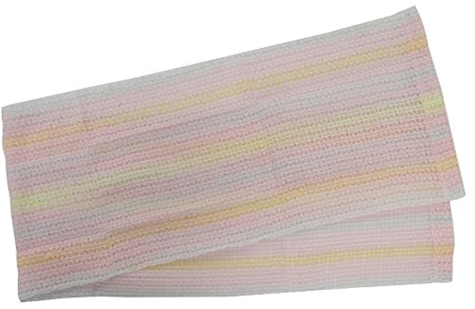 改善単位侵入小久保 『もっちり泡でお肌を包み、やさしい洗い心地』 もこもこあわわボディタオル 20×100cm 3285