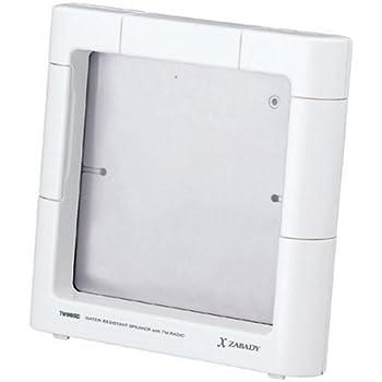 TWINBIRD AV-J122W FMラジオ付防水スピーカー iPod対応 x ZABADY ホワイト