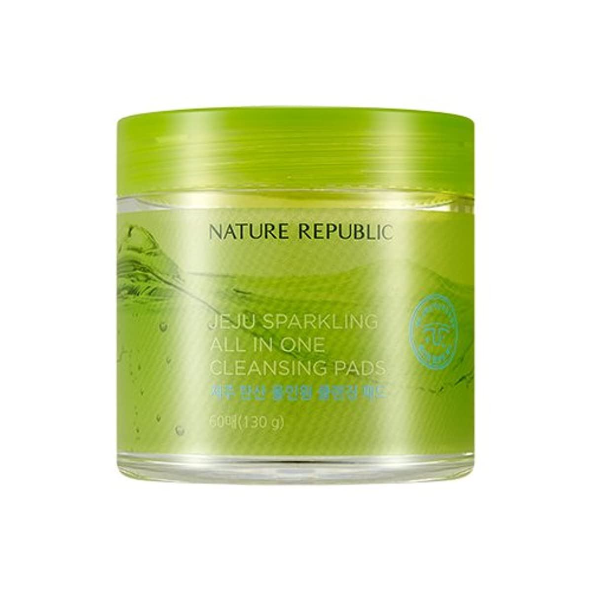 NATURE REPUBLIC JEJU Sparkling All In One Cleansing Pads/ネイチャーリパブリック 済州 スパークリング オールインワンクレンジングパッド 60枚 [並行輸入品]