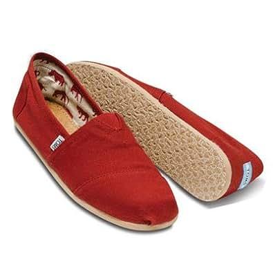 [トムス シューズ] Toms Shoes メンズ クラシック キャンパス スリッポン Men's Classics [並行輸入品] RED 8.5