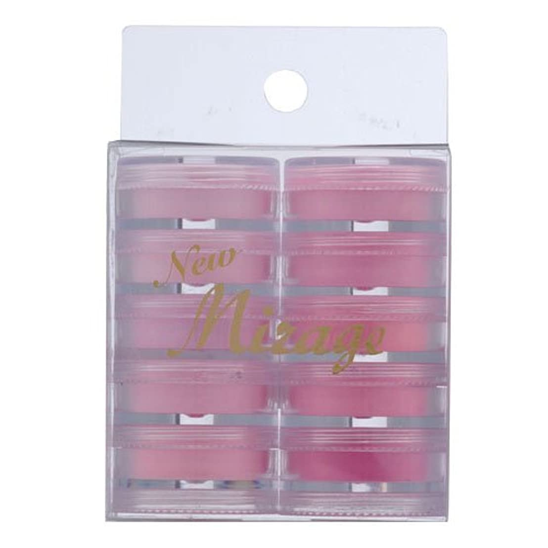 薄い巻き取りプリーツミラージュ カラーパウダー N/WPG  3.5g×10色セット  アクリルパウダー ピンクのグラデーションカラーのセット