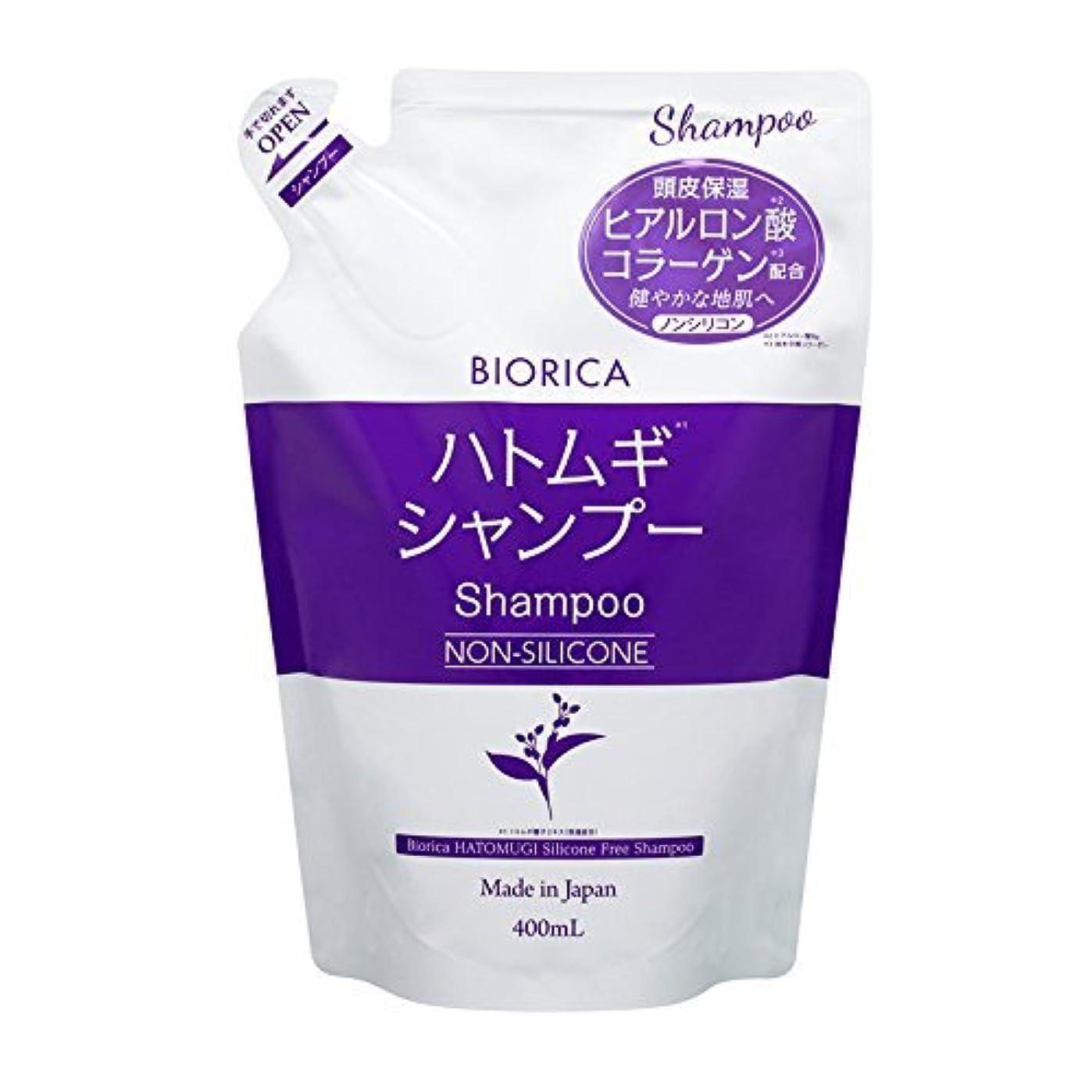 別々に組み合わせ悪のBIORICA ビオリカ ハトムギ ノンシリコン シャンプー 詰め替え フローラルの香り 400ml 日本製
