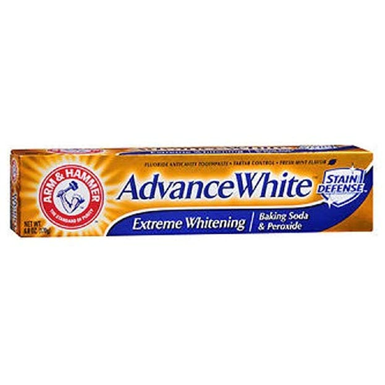 シンククルーズピクニックをする海外直送品Arm & Hammer Arm & Hammer Advance White Fluoride Toothpaste Baking Soda And Peroxide, Baking Soda And Peroxide...
