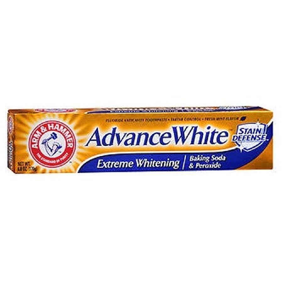 検体相反するヒューム海外直送品Arm & Hammer Arm & Hammer Advance White Fluoride Toothpaste Baking Soda And Peroxide, Baking Soda And Peroxide...