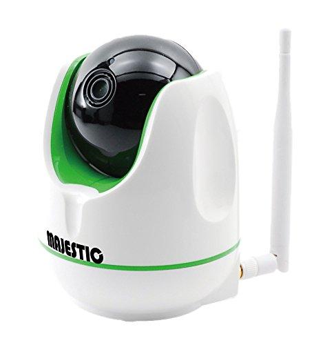 MAJESTIC ネットワークカメラ 自宅警備くん 3分で簡単設定 動体感知と相互音声機能 日本語アプリとWI-FIのみで簡単接続 MJ-H003 (ホワイト)