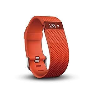 【日本正規代理店品】Fitbit ワイヤレス活動量計+心拍計リストバンド ChargeHR Large Tangerine  FB405TAL-JPN