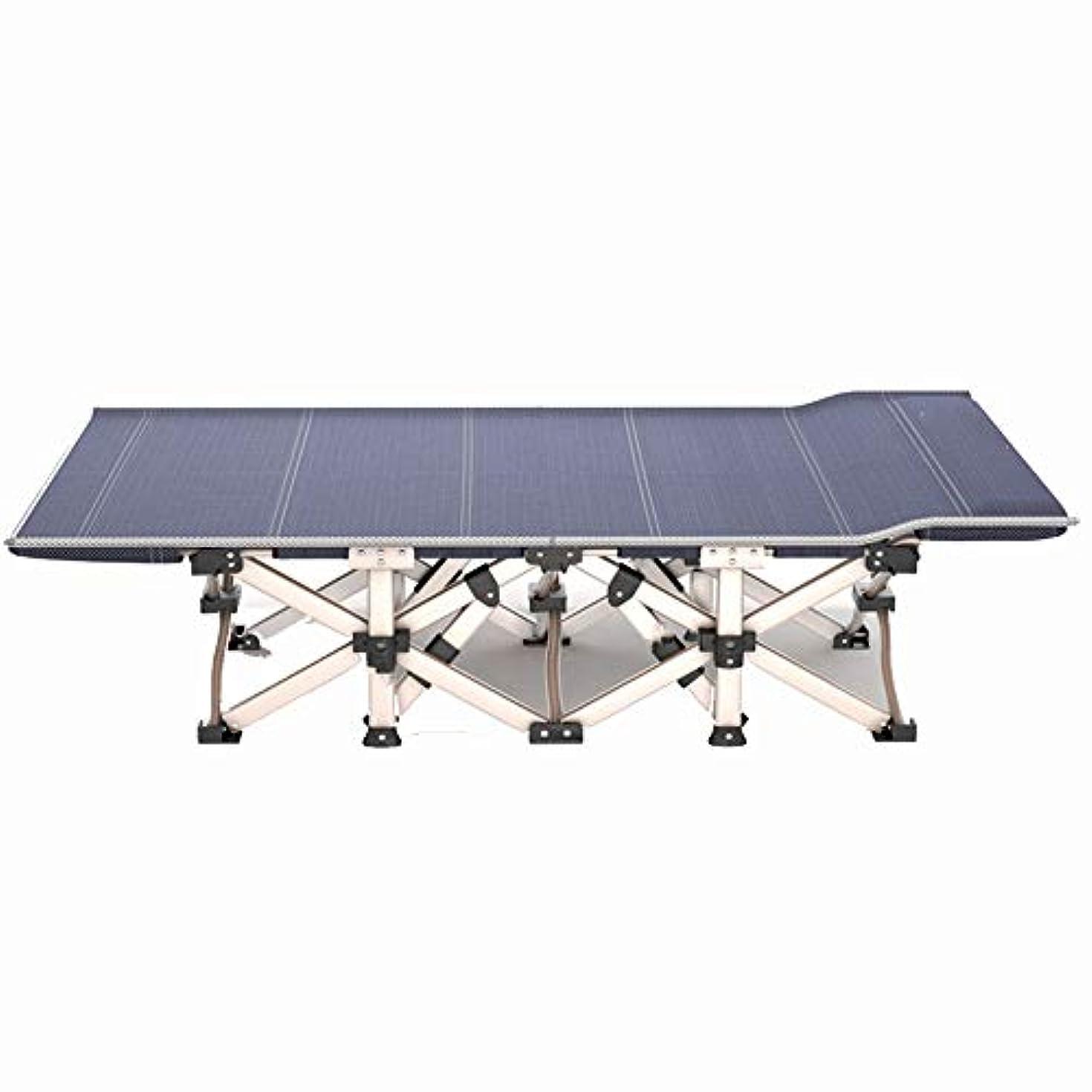 姿勢輸送並外れて折りたたみ式ベッドシングルキャンプベッドシンプルなポータブル屋外リクライニング式ナップベッドポータブルで軽量 (Size : A)