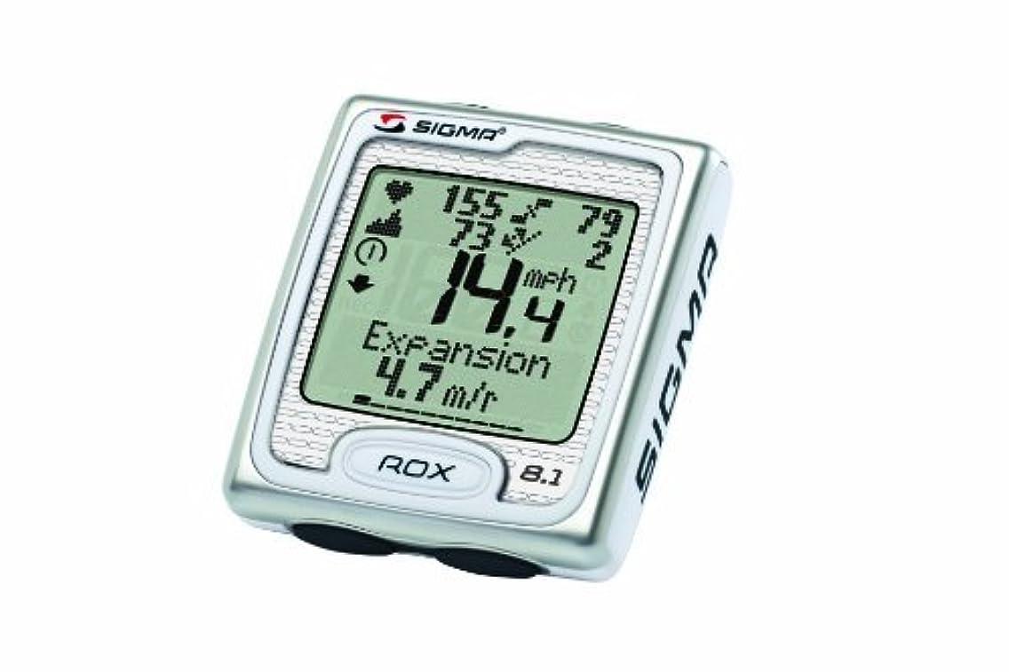 ワイプパトワカートSigma サイクルコンピューター 【並行輸入品】Sport ROX 8.1 Triple Wireless Computer White