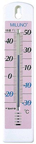 カラー寒暖計ミルノ ピンク