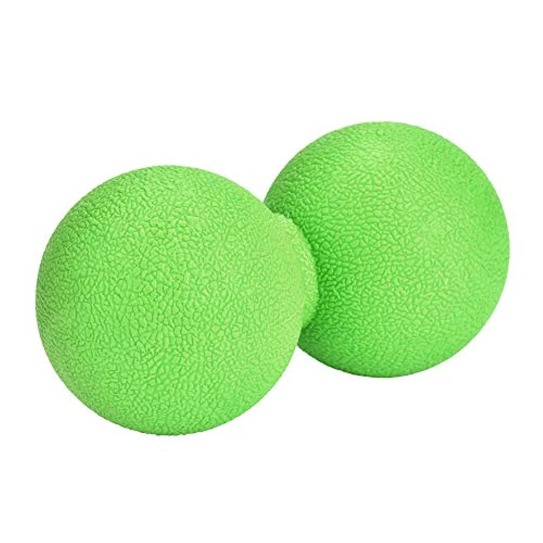 恐怖安息攻撃的マッサージボール ストレッチボール ピーナッツ型 ヨガボール 首 背中 肩こり 腰 ふくらはぎ 足裏 筋膜リリース トレーニング