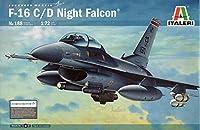 タミヤ イタレリ 188 1/72 F-16C ナイトファルコン プラモデル