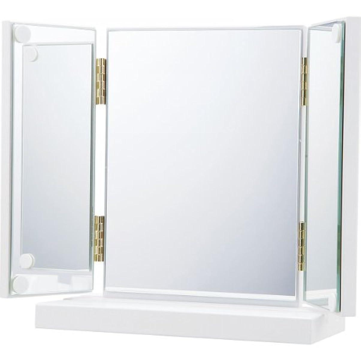コーヒー精算キャンパスお 化粧 や ヘアーセット に 2種類 角度 調節 卓上 三面鏡 卓上 ミラー 鏡 三面 鏡 卓上 ドレッサー メイクアップ ミラー 鏡 かがみ カガミ